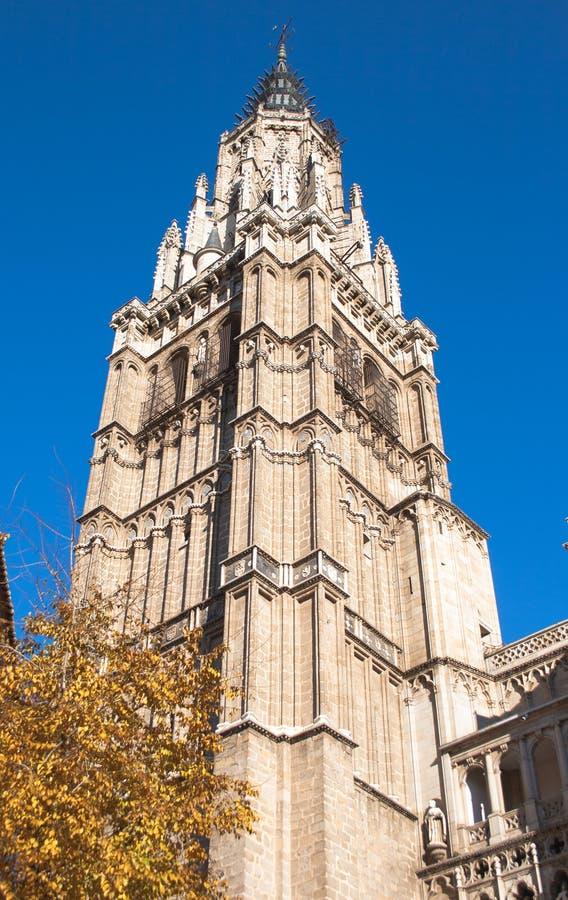 Turm der Kathedrale von Toledo, gotische Art lizenzfreie stockfotografie