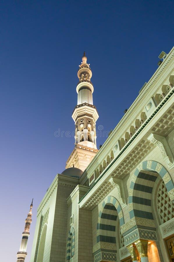 Turm der Nabawi-Moschee lizenzfreie stockfotografie