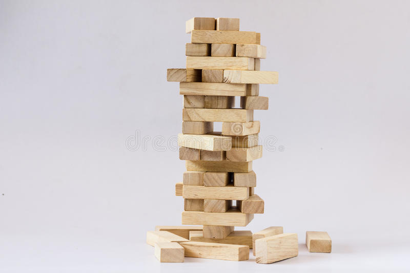 Turm des hölzernen Blockes lizenzfreie stockbilder