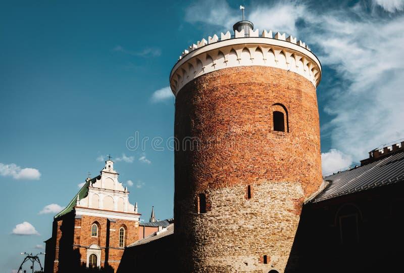 Turm des königlichen Schlosses von Lublin stockfotos