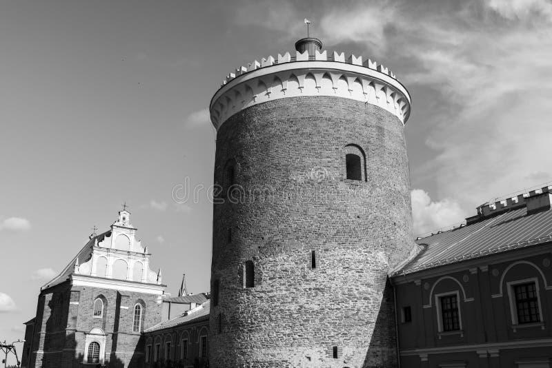 Turm des königlichen Schlosses von Lublin lizenzfreies stockbild