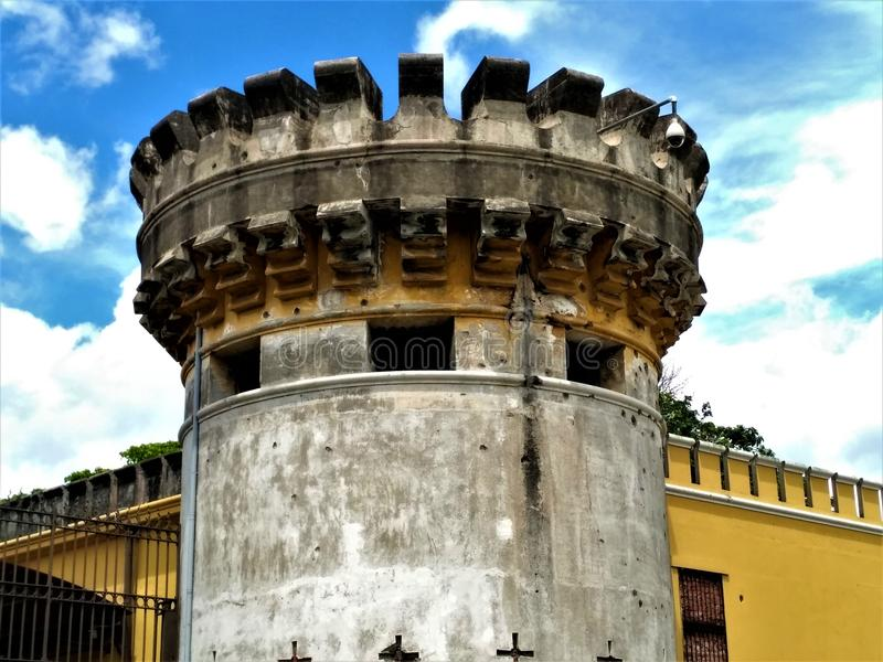 Turm des nationalen Muesum in San Jose, Costa Rica lizenzfreie stockfotos
