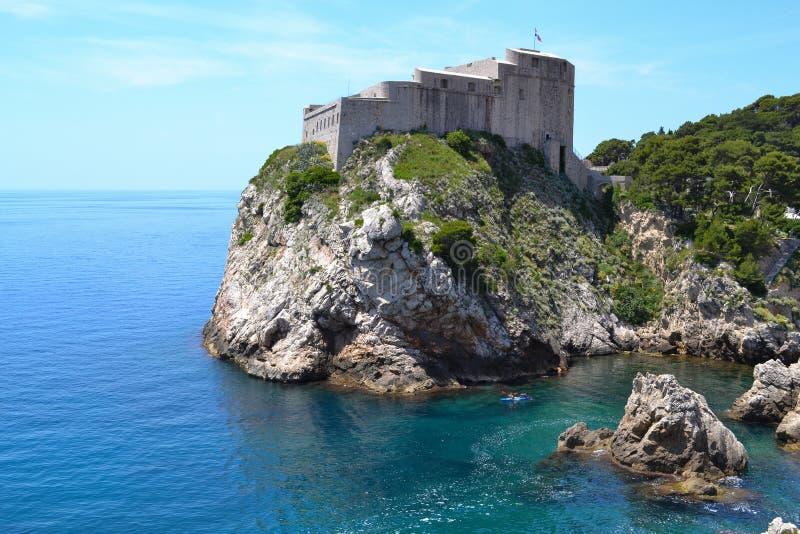 Turm Dubrovnik (Kroatien) stockbilder