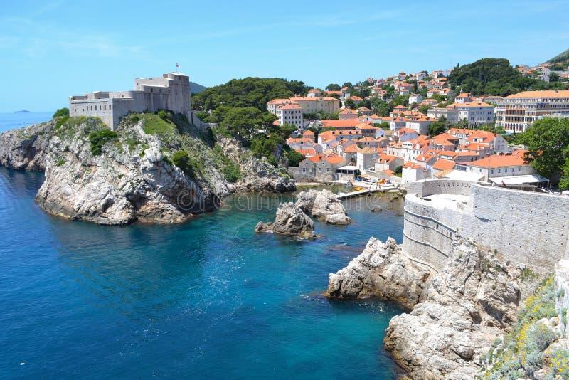 Turm Dubrovnik (Kroatien) stockbild