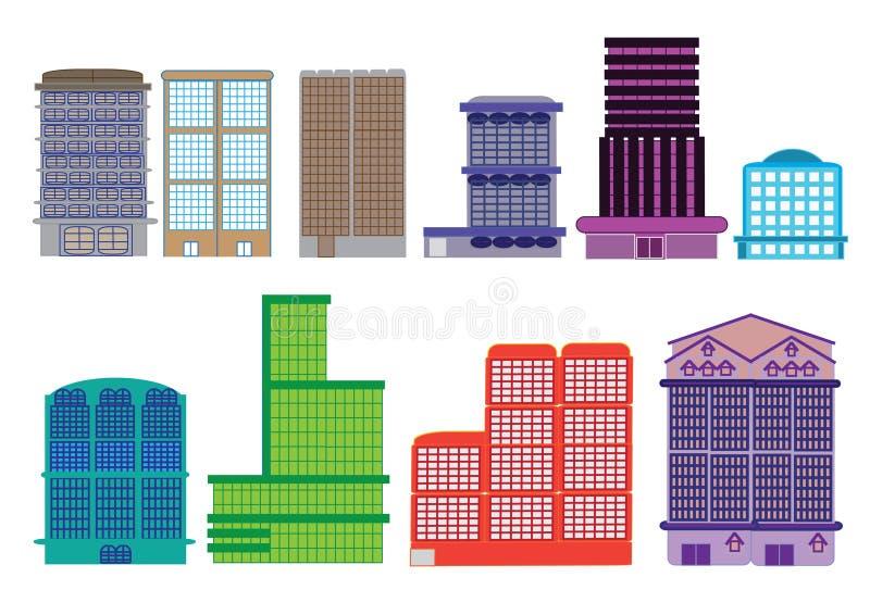 Turm Gebäude-Stadt-Arbeitsplatz-Eigentumswohnungs-Haus stockfotografie