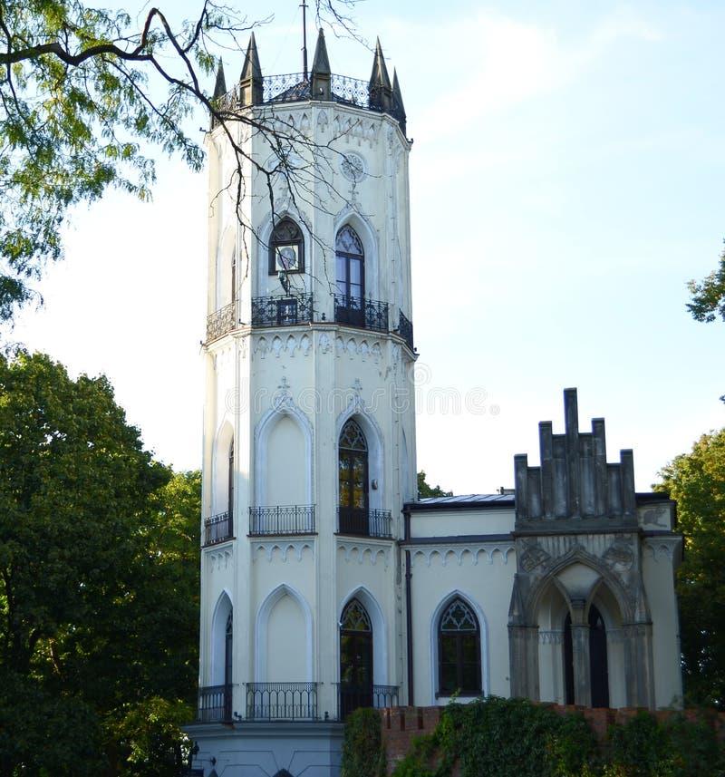 Turm im Schloss stockfoto