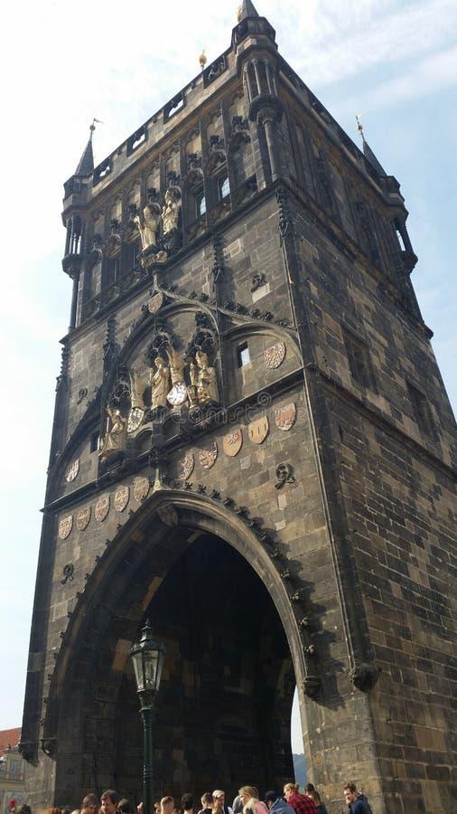 Turm - KarlsbrÃ-¼ cke stockfoto