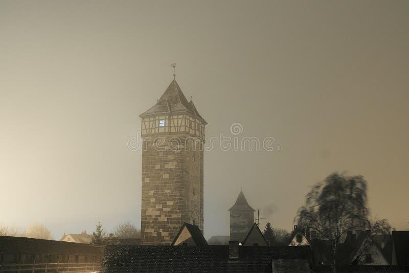 Turm in Rothenburg-ob der Tauber stockbilder