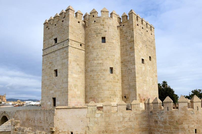 Turm Spaniens, Andalusien, Cordoba, Calahorra lizenzfreies stockfoto