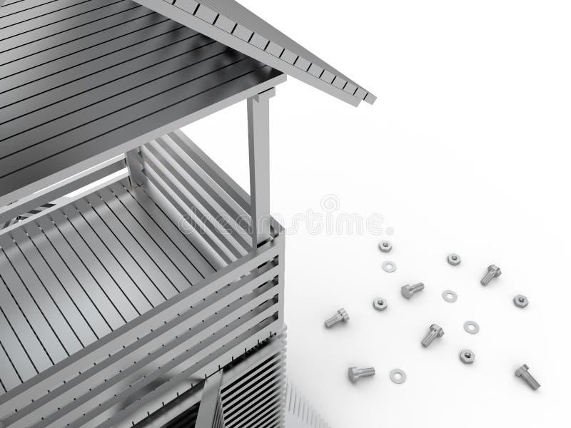 Turm und Werkzeuge, 3D vektor abbildung