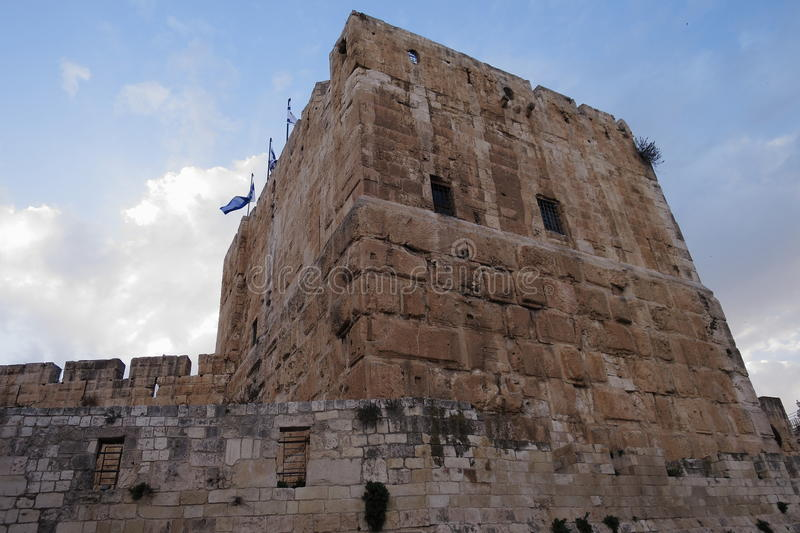 Turm von David - Jerusalem - Israel stockfoto