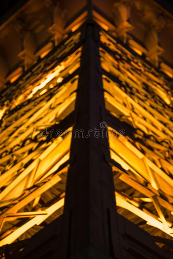 Turm von Godlen-Lichtern lizenzfreies stockfoto