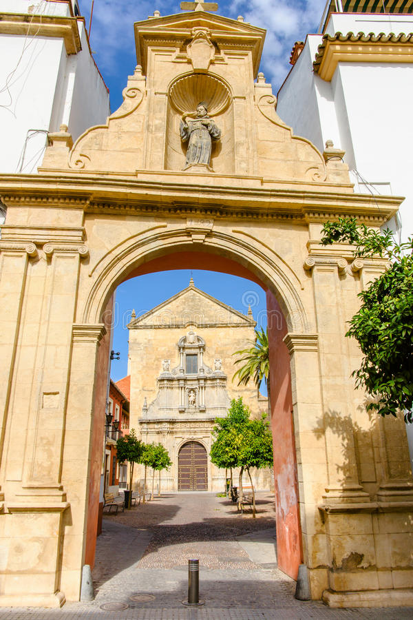 Turm von St. Mary Church, Alhambra von Granada Spanien 17. centu stockfoto
