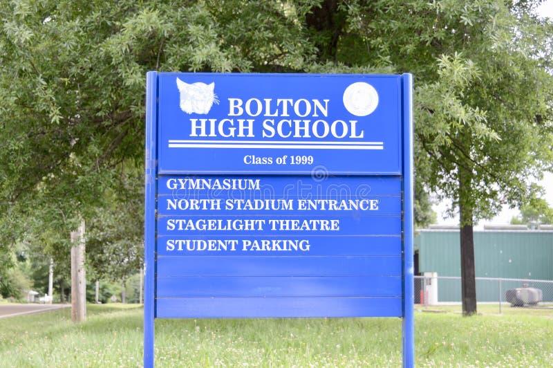 Turma da escola secundária de 1999, Bolton de Bolton, TN foto de stock