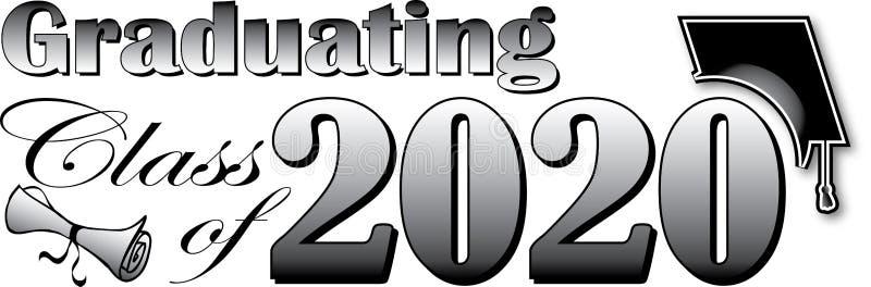Turma de finalistas de 2020 ilustração stock