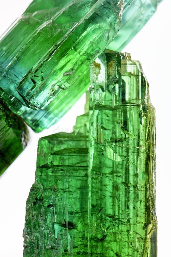 Turmaline verde foto de stock