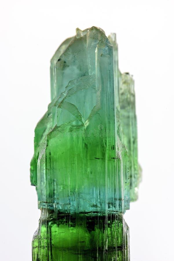 Turmaline verde fotografia de stock