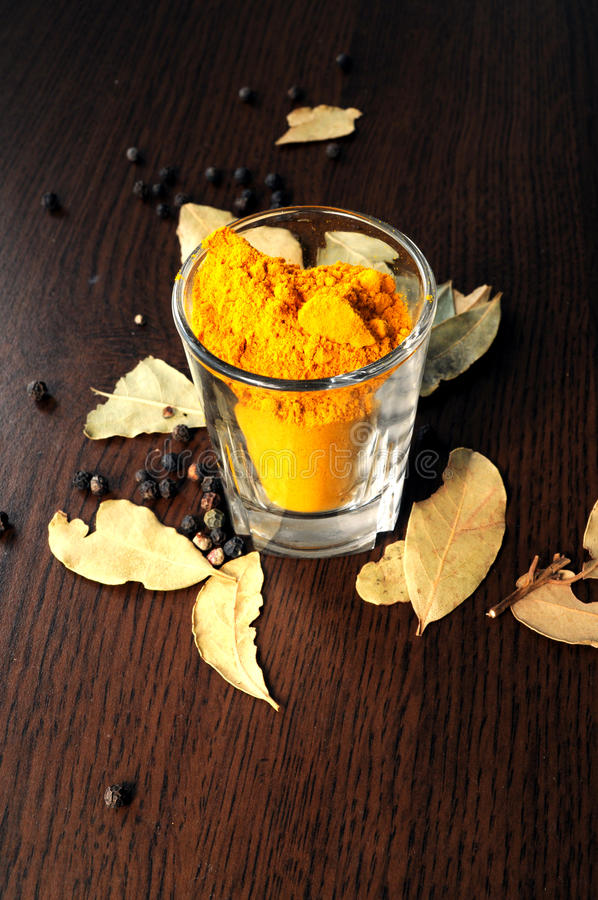 Turmeric and black pepper royalty free stock image