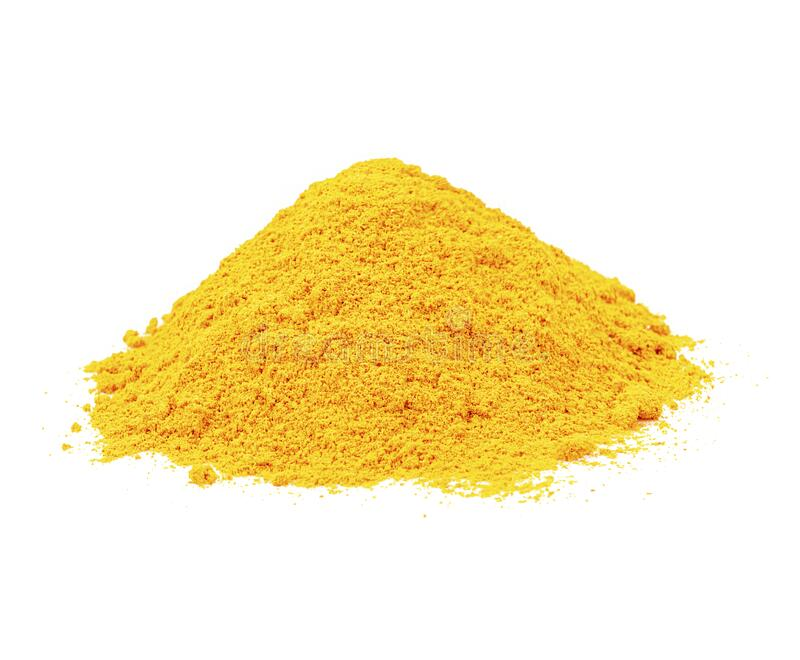 Turmeric powder is a medicinal plant. Taste astringent, fragrant Is an herb that can be used as a medicine stock images