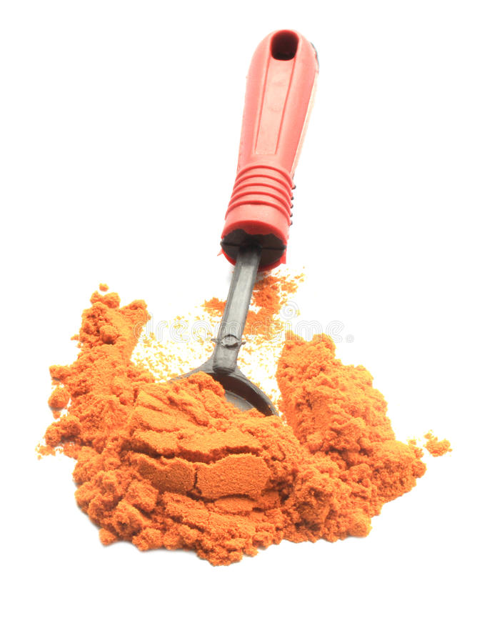 Turmeric Powder With Spoon Stock Image