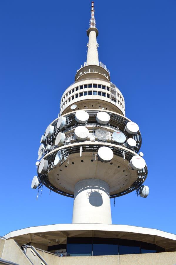 Turmkommunikations-Nabensatellit stockbilder