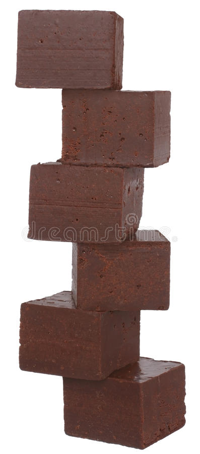 Turmwürfel der Schokolade stockbild