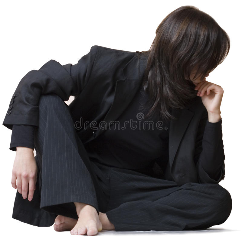 Download Turn away stock photo. Image of barefoot, woman, character - 11188066