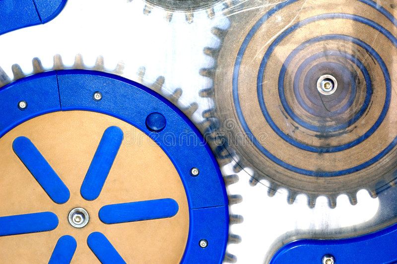 Turn the gears stock images