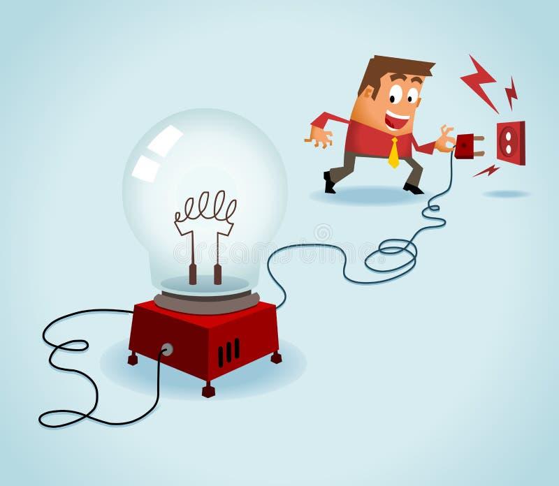 Turn on the idea stock illustration