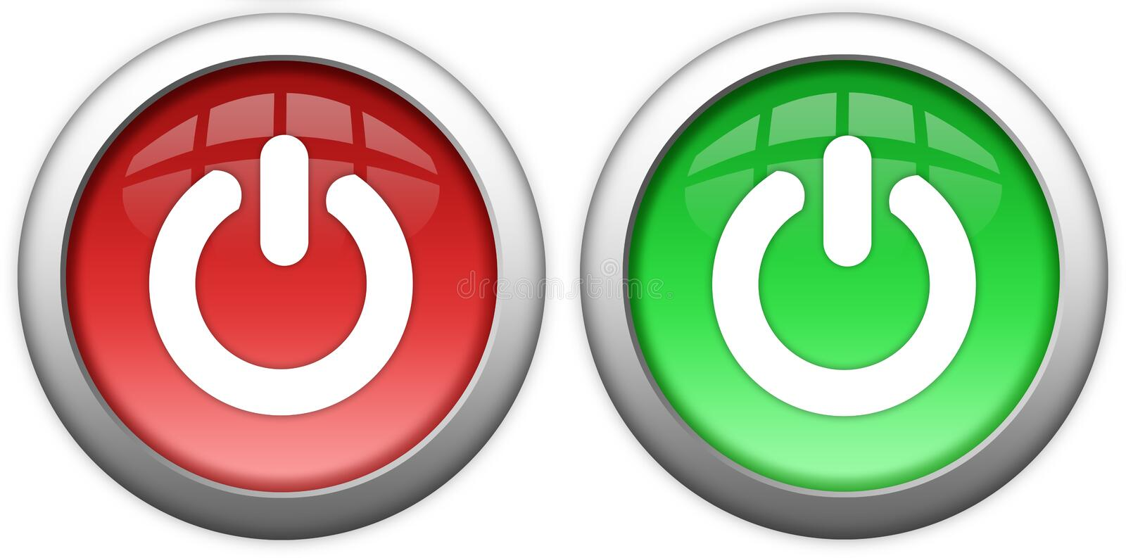 Download Turn on off button stock illustration. Image of shiny - 13045882