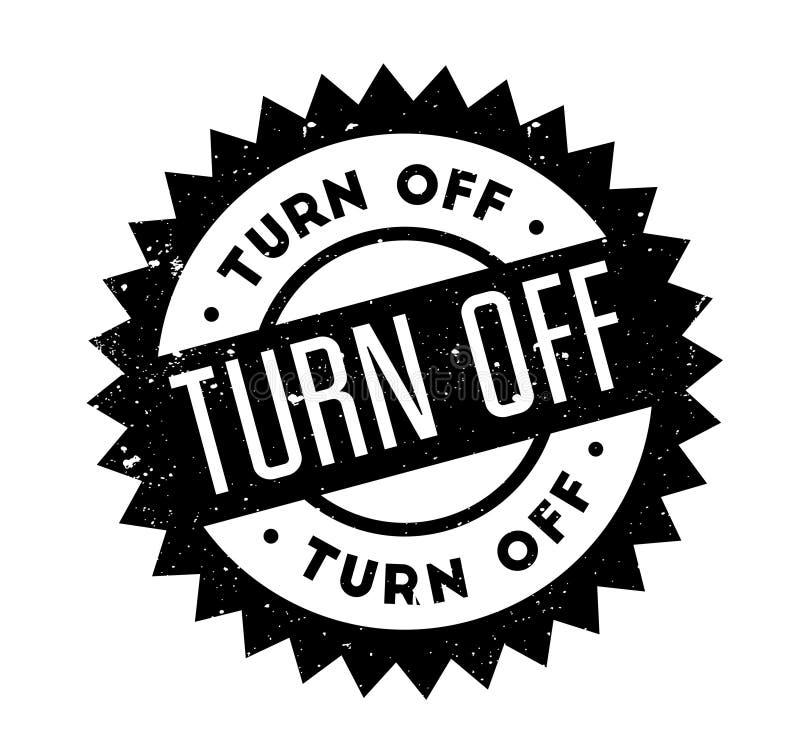 Turn Off rubber stamp vector illustration