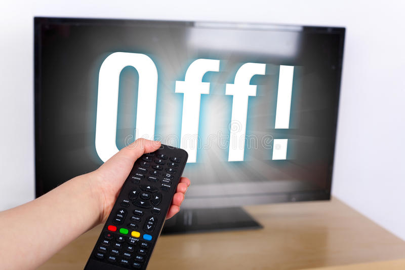 Turn off the TV royalty free stock image