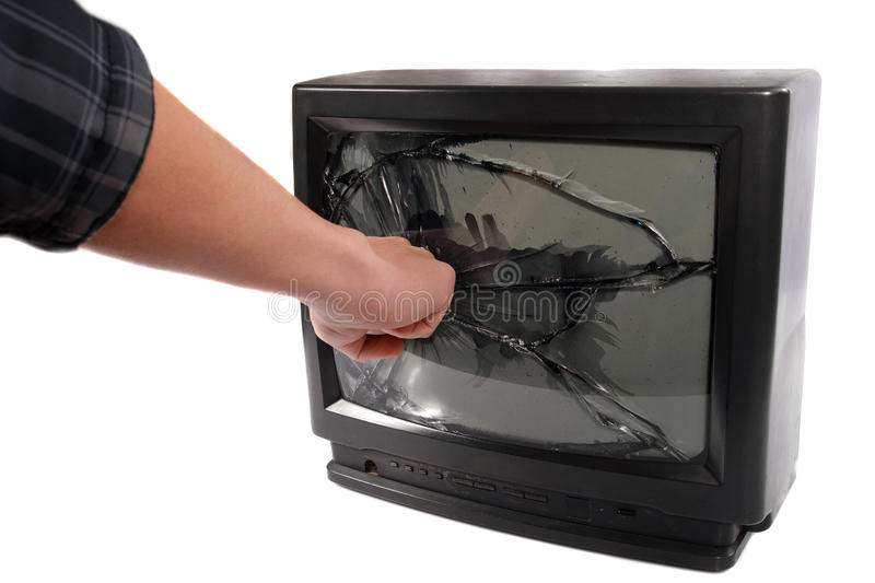 Turn off your TV.Kill Your Television. royalty free stock image