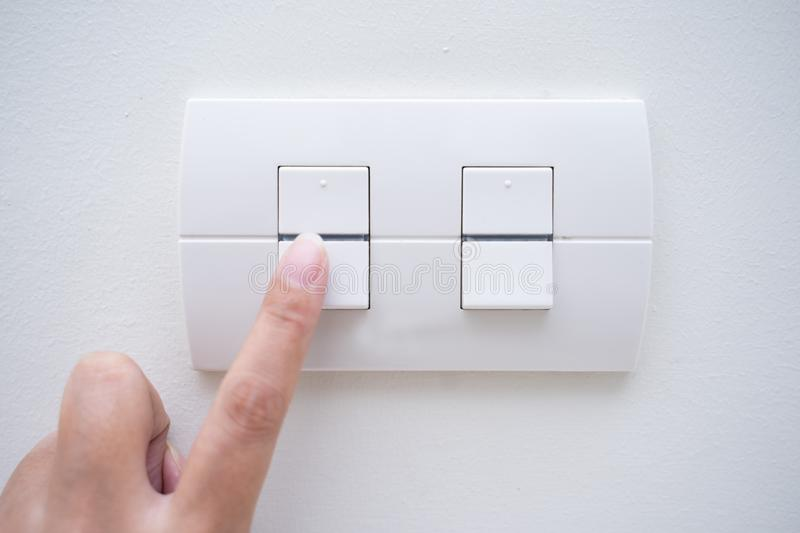 Turn on power switch light. Switch royalty free stock photography