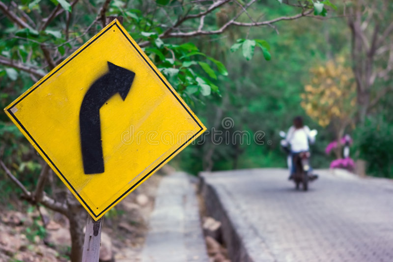 Download Turn right stock photo. Image of cobble, road, sign, cobbled - 7692290