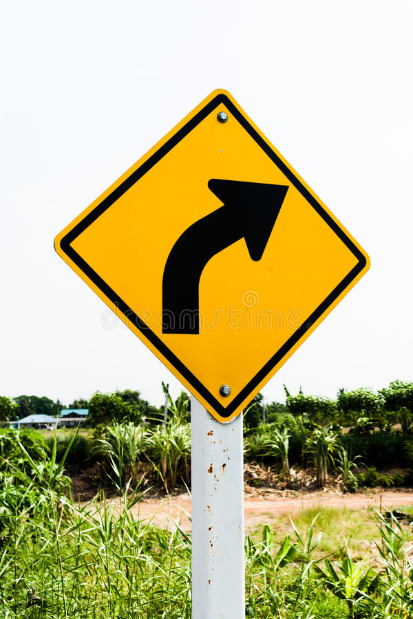 Turn Right traffic sign royalty free stock photos