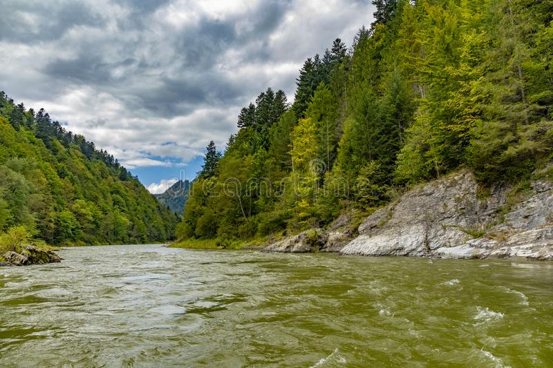 The turn of the river Dunajec royalty free stock image