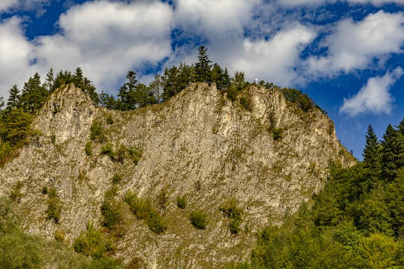 The turn of the river Dunajec stock photo