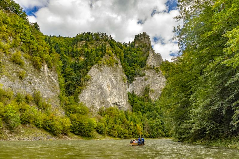 The turn of the river Dunajec royalty free stock photo