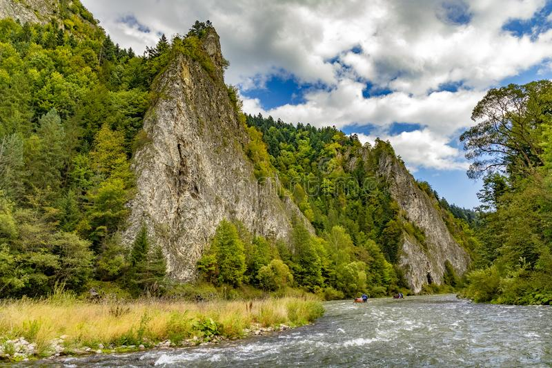 The turn of the river Dunajec stock photography
