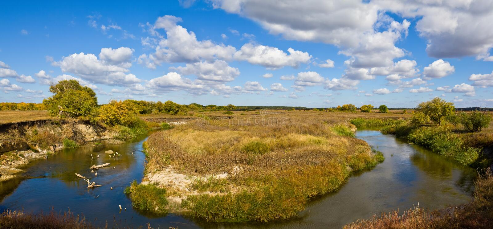 Download Turn Of A Steppe River Royalty Free Stock Photo - Image: 21549765
