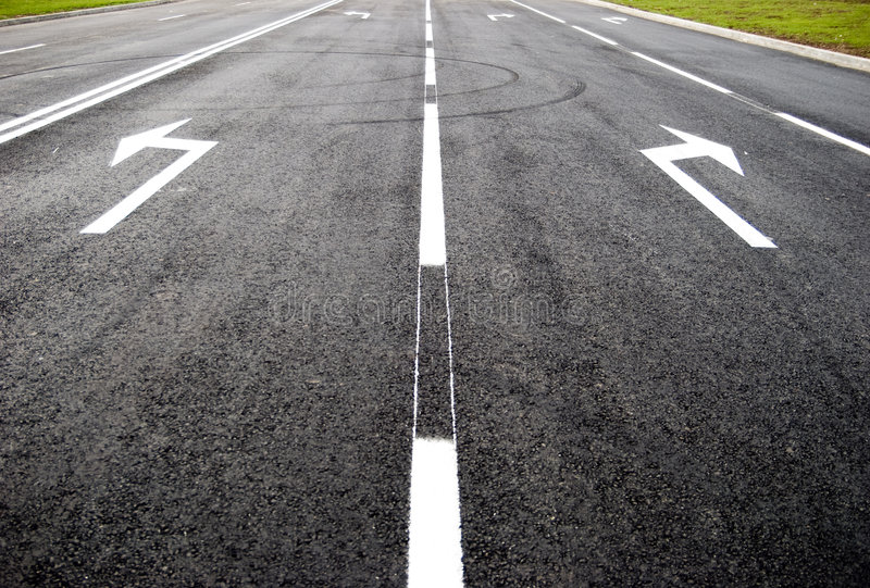 Download Turn To New Life  - Street, Road, Arrow Direction Stock Photo - Image: 4551948