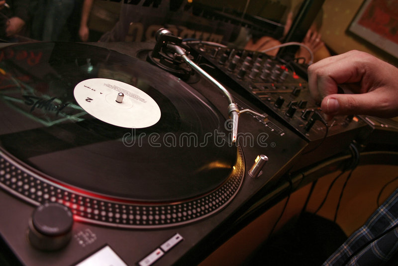 Turnatables - DJ 9 stock image