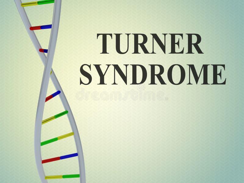 TURNER-SYNDROM - genetisches Konzept lizenzfreie abbildung
