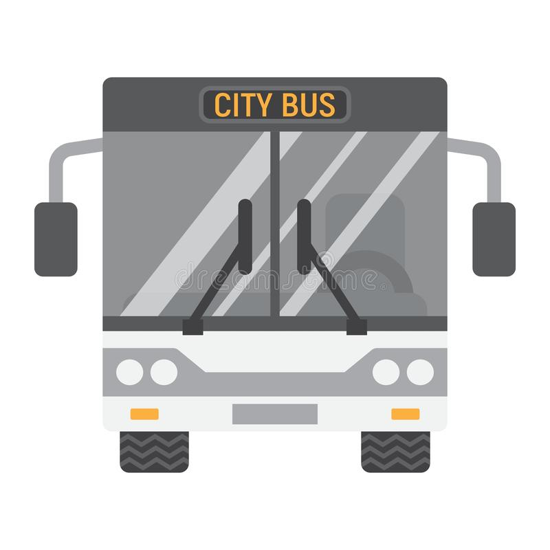 Turnerar den plana symbolen, transport och medlet för buss, bussen stock illustrationer