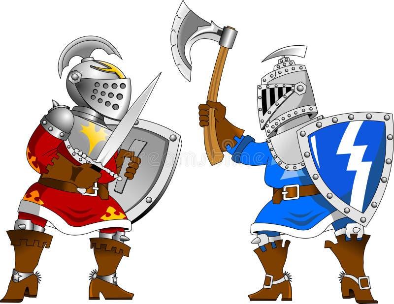 turnering för 2 riddare royaltyfri illustrationer