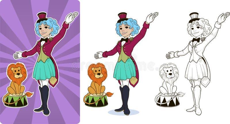 Turnerzirkus-Charakterfrau lizenzfreie abbildung