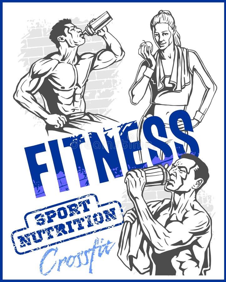 TURNHALLEN-Bodybuilding - Fitness-Club stock abbildung