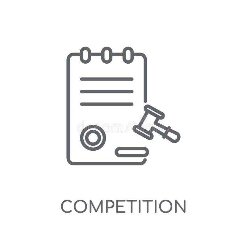 Turniejowej prowizji liniowa ikona Nowożytna kontur rywalizacja C royalty ilustracja