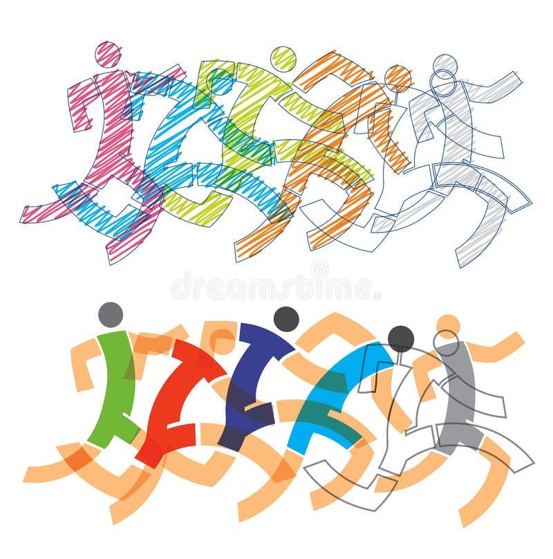 Turniejowi biegacze, pełna prędkość royalty ilustracja